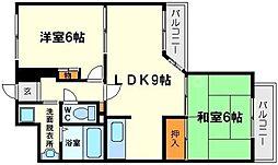 新大阪サニーハイツ[4階]の間取り