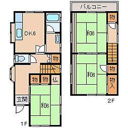 [一戸建] 和歌山県和歌山市加納 の賃貸【和歌山県 / 和歌山市】の間取り