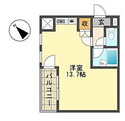愛知県名古屋市名東区新宿2丁目の賃貸マンションの間取り