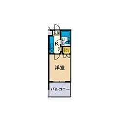 ユースピア本厚木[2階]の間取り