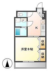 セジューネ625[7階]の間取り