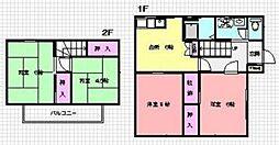[テラスハウス] 神奈川県横浜市青葉区桂台2丁目 の賃貸【神奈川県 / 横浜市青葉区】の間取り