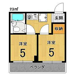 アメニティー京都2番館[4E号室]の間取り