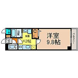 愛知県名古屋市中村区那古野1丁目の賃貸マンションの間取り