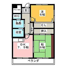 PLUS O2[5階]の間取り