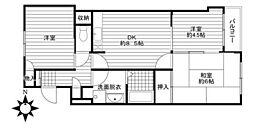 河内山本駅 徒歩7分3階Fの間取り画像