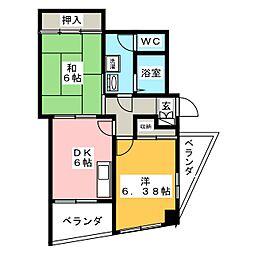 リバーサイドビュー[4階]の間取り