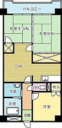 第1三共ビル[301号室]の間取り