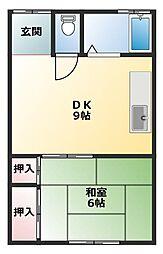 水落荘[2階]の間取り
