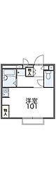 広島電鉄6系統 江波駅 徒歩11分の賃貸アパート 1階1Kの間取り