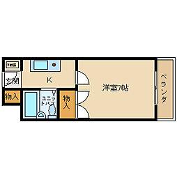 大阪府茨木市総持寺1の賃貸マンションの間取り