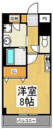 ブルック21[3階]の間取り