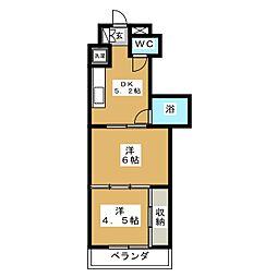ロイヤルコート安田[3階]の間取り