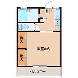 埼玉県坂戸市本町の賃貸アパートの間取り