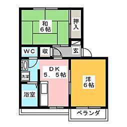 小川パークハイツA[2階]の間取り