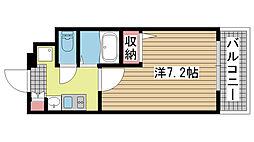 EC三宮山手Ⅱソアーレ[8階]の間取り