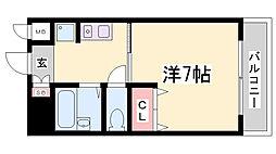 エクセルウィンD[7階]の間取り
