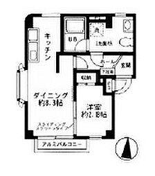 ヴィラージュK大倉山No.III[3階]の間取り