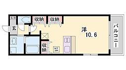 兵庫県神戸市須磨区千守町2丁目の賃貸アパートの間取り