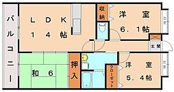 シャンポールセイコウ[6階]の間取り