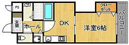 コッフレ ドゥ クロシェット[3階]の間取り