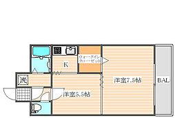 ステイツ博多駅[2階]の間取り