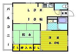 ドミール古賀[2階]の間取り
