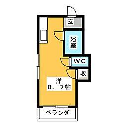 コーポ藤本[1階]の間取り