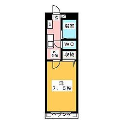 ユーハイツ旭ヶ丘[1階]の間取り