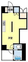 名鉄豊田線 浄水駅 徒歩7分の賃貸マンション 2階ワンルームの間取り