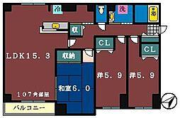 パルテール[1階]の間取り