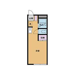 エクレールKVI[3階]の間取り