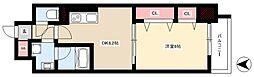 ル・ソレイユ 9階1DKの間取り