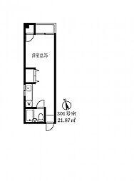 東京都目黒区五本木3丁目の賃貸マンションの間取り
