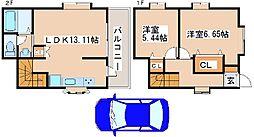 JR山陽本線 明石駅 バス15分 北別府5丁目下車 徒歩2分の賃貸アパート 1階2DKの間取り