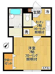 twin court〜ツインコート〜[103号室]の間取り