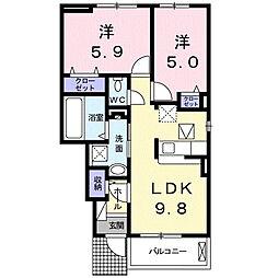 グランツハウスII[1階]の間取り