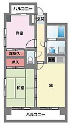 神奈川県横浜市鶴見区佃野町の賃貸マンションの間取り