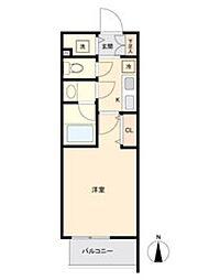 ブランシエスタ東別院 13階1Kの間取り