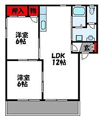 セトル古賀壱番館[2階]の間取り