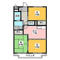 プレサージュKAKO[2階]の間取り
