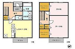 [タウンハウス] 東京都八王子市打越町 の賃貸【/】の間取り