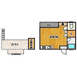 福岡県福岡市早良区南庄6丁目の賃貸アパートの間取り