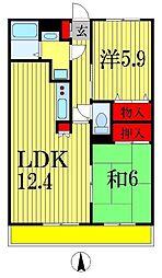 千葉県船橋市駿河台1丁目の賃貸マンションの間取り