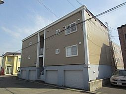 北海道札幌市東区北二十三条東19丁目の賃貸アパートの外観