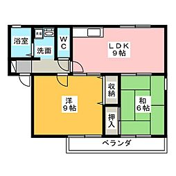 エスポワール B[2階]の間取り