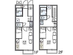 レオパレス小牧II[1階]の間取り