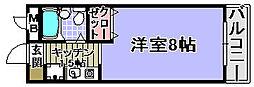 ヤマザキメゾンドファム[104号室]の間取り