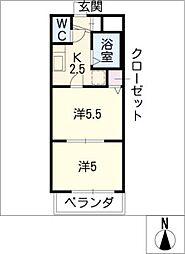 タウンエステート新栄[6階]の間取り
