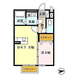 マリーモナリエ[2階]の間取り